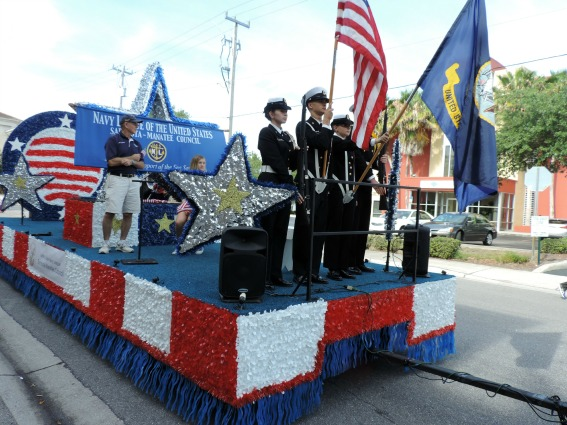 Veterans day parade floats